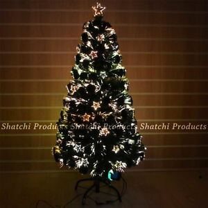 3ft LED Star Fibre Optic Christmas Tree xmas Decoration Pre-Lit ...