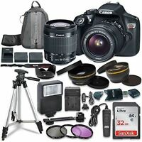 Canon EOS Rebel T6 Digital SLR Camera with Canon EF-S 18-55mm IS STM Lens + 32GB