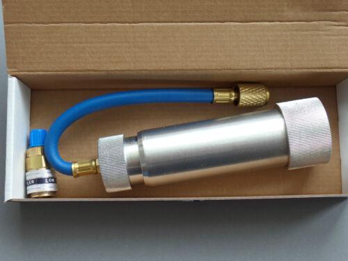 Schnellkupplung R134a Kalibrierter Nachfüllkugelinjektor Öl Stoff UV Mittel
