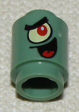 LEGO NEW SPONGEBOB SAND GREEN 1 X 1 ROUND PLANKTON PIECES