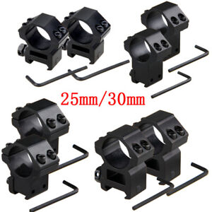 Scope-Mounts-11mm-20mm-Dovetail-Rail-25-or-30mm-Rings-High-or-Low-profile