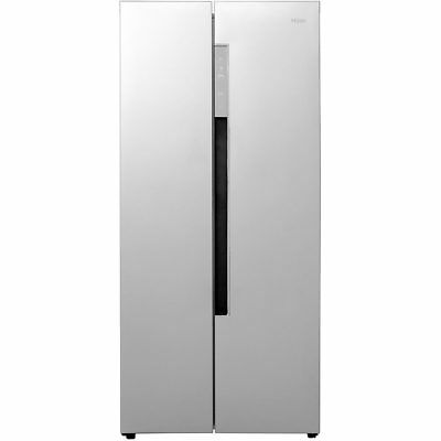 Haier HRF-450DS6 83cm Frost Free American Fridge Freezer Silver New from AO