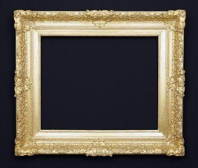 Bilderrahmen alt antik massiv Prunk Gold Holz Stuck Historismus Barock Rahmen