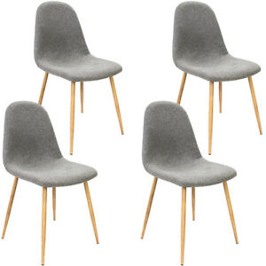 Nice Image Is Loading 4x Design Dining Table Chairs Set Retro Fabric