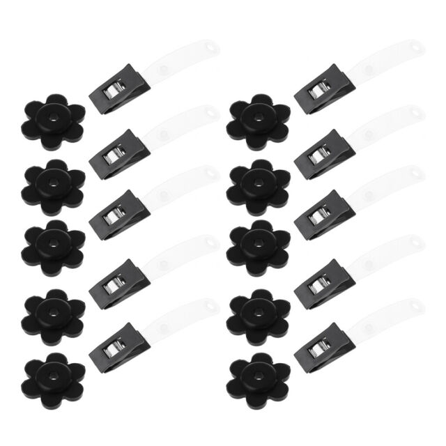 Accessories for KUUQA 20 Pack Garden Flag Rubber Stoppers and Plastic Clips