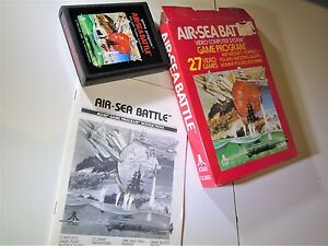 COMPLETE-Game-Air-Sea-Battle-White-Logo-Letters-Atari-2600-Video-Game-System-D4
