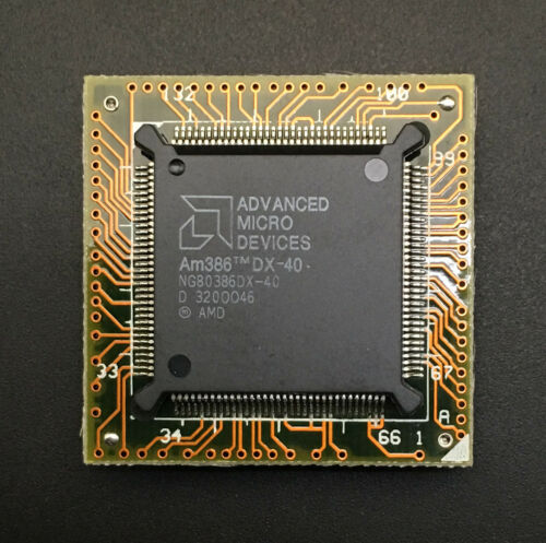AMD AM386DX-40 CPU NG80386DX-40 386 32-bit Processor PGA132 40MHz QFP on adapter