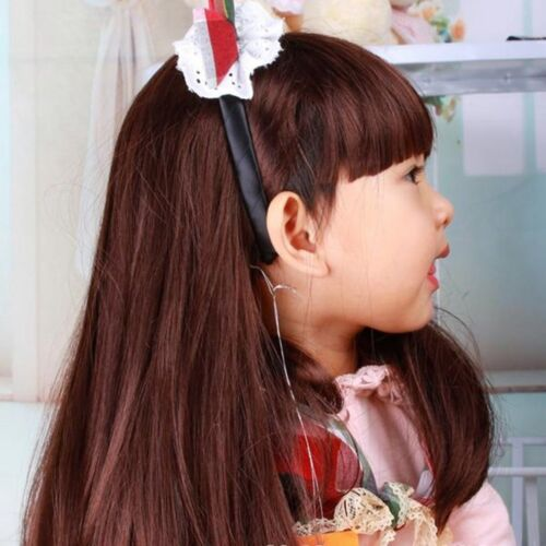 Synthetic Heat Resistant Fiber Straight Child Hair Brown//black Children Wig PA
