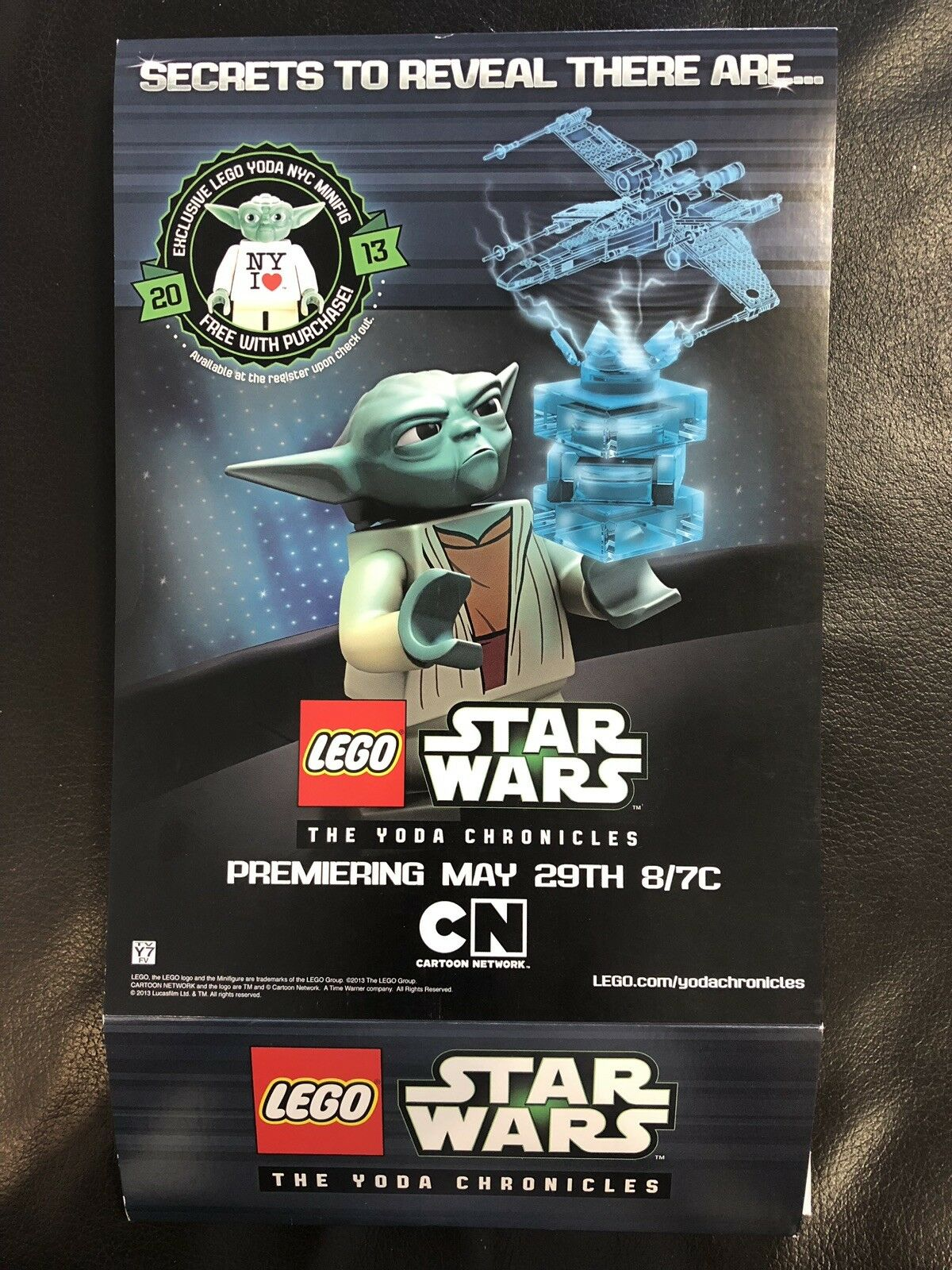 Rare Promo Lego Star Wars Box Sleeve for set 9493 X-Wing 2013 NY Yoda Chronicles