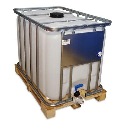 600 Liter IBC Tank Container Wassertank dicht schwarz Kunststoffpalette VERSAND