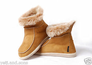 dc1f74ffb04 Details about Yeti&Sons Womens Ladies Sheepskin Boot Moccasin Slippers 100%  Real Fur size's