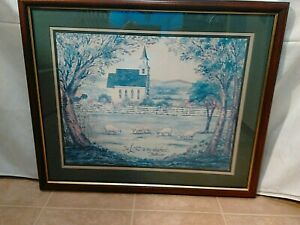Homco Home Interiors 23rd Psalm The Lord Is My Shepherd Picture Vintage Ebay