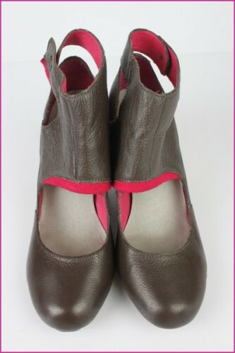 37 Shoes Marrone Pelle Taupe T Condition Esska Court Top YdTwEqY