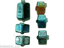 6 Cartridges for HP 02 8250 3210 3310 8230 Refillable