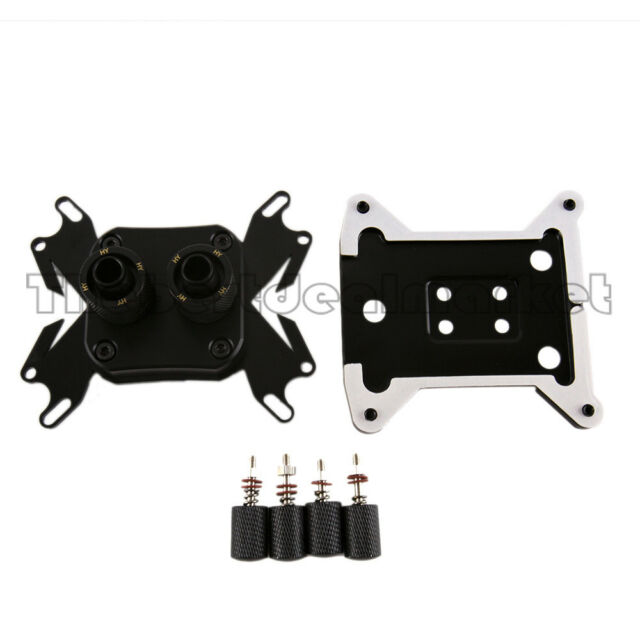 CPU Block Fits i3 i5 i7 AM3 With 2Pcs Fitting & Back Plate For Water Cooling