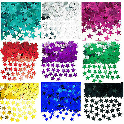 Wedding Stars Table Confetti Foil Decorations 14g Birthday Party Red Black Blue