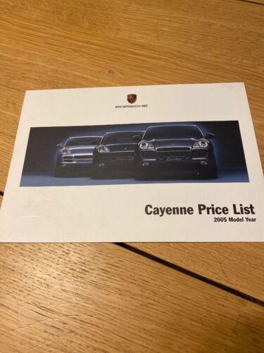 Porsche Cayenne Price List 2005 Model Year Brochure Original Cayenne S Turbo