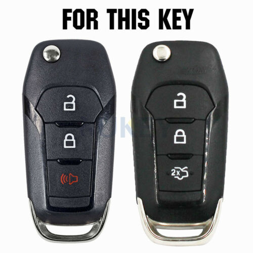 XUKEY Silicone Remote Key Fob Cover For Ford F-150 Explorer Fiesta Explorer 2X