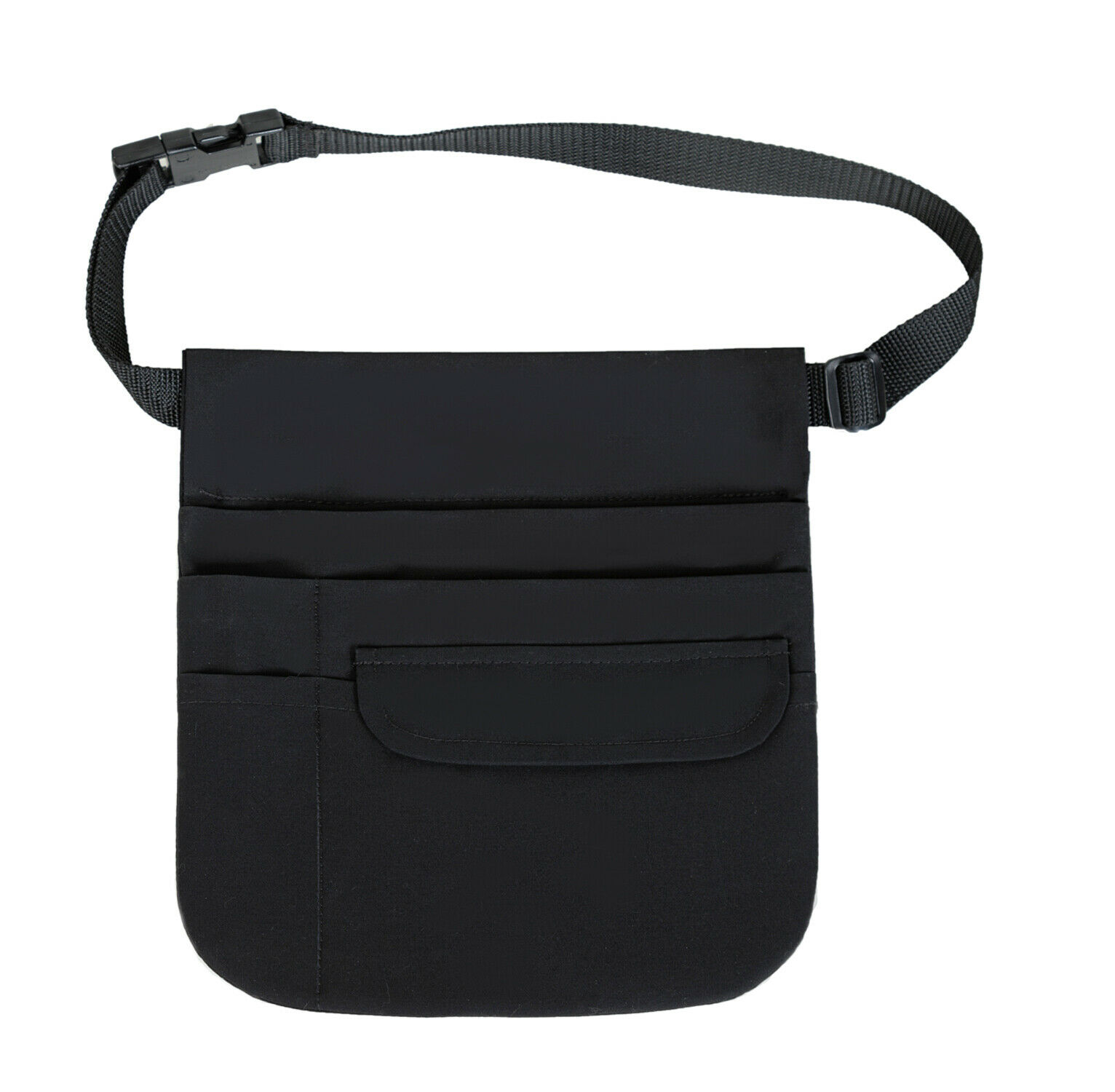 Waitress Pouch Apron with Organizing Pockets  w// Belt Deluxe 5 Pocket Tablet