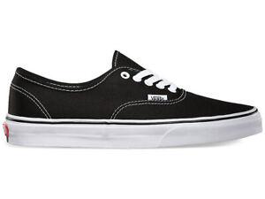 Vans-Authentic-Men-039-s-Canvas-Casual-Shoes-Black-Size-10-5-16