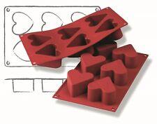 Silikonbackform Backformen Einzeltörtchen 6 x Herz Eisform Silikon Europa