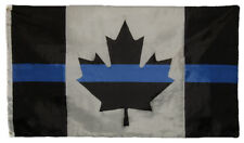 3x5 Thin Blue Line Canada Police Lives Memorial Fallen Officers Flag 5x3 Banner