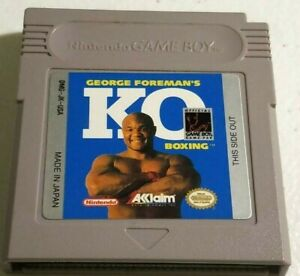 George-Foreman-039-s-KO-Boxing-by-Acclaim-for-Nintendo-Gameboy-Cart