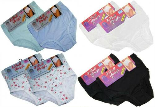 3 Ladies Full Mama 100/% Cotton Briefs Knickers Underwear All Sizes