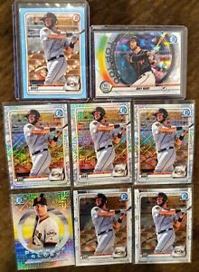 2020 Bowman Joey Bart Lot (9) Top 100 Atomic Refractor #/150, Sky Blue #/499