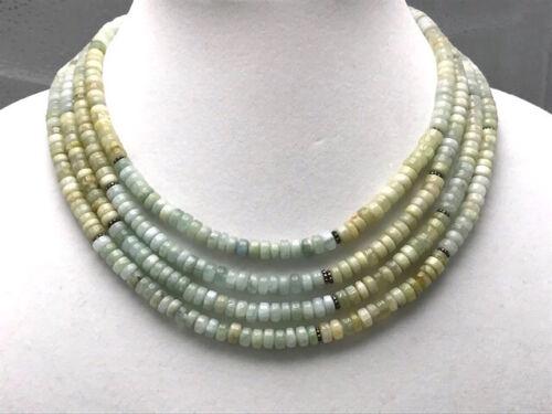 Diana Venezia Green to Blue Hue Aquamarine Bead S… - image 1
