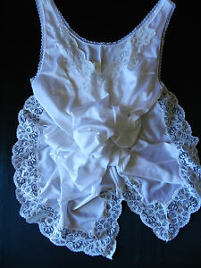 Intimates & Sleep Friendly Fond De Robe Combinaison Nylon Vintage 44 Blanche Tb Etat Women's Clothing