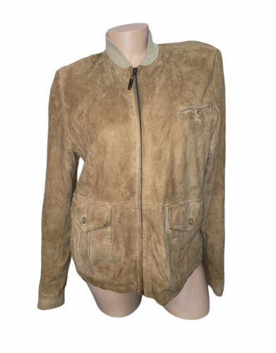 Cole Haan Ladies Country Goatskin Leather Jacket S