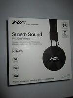 Nia X3 Bluetooth Headphones - 40mm Hd Drivers, Fm Radio, Sd Card Slot, Wireless