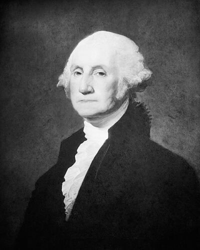 CARROLL PORTRAIT OF  PRESIDENT GEORGE WASHINGTON 8x10 SILVER HALIDE PHOTO PRINT