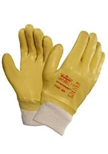 Marigold-N250Y-entierement-enduit-impermeable-Nitrile-Builders-jardinage-Gants-de-travail