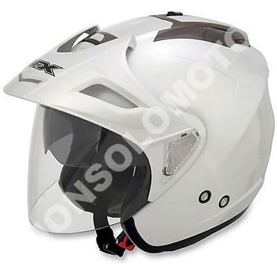 Intelligente Casco Helmets Jet Moto Cross Enduro Quad Trial Scooter Afx Fx-50 Bianco Lucido Lucentezza Luminosa