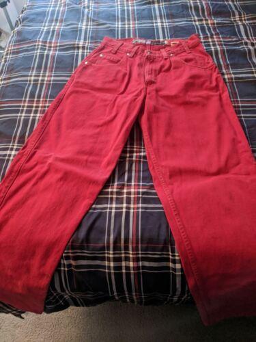 vintage red silvertab baggy jeans.