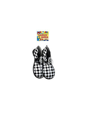 Paar Clownschuhe XXL deluxe usa schachbrett Clown bunt