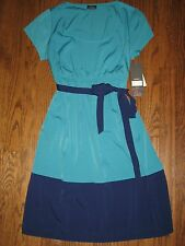 NEW Motherhood Oh Baby maternity womens large dress green blue knee length