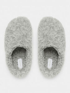 NEW-Sussan-Women-039-s-Fluffy-Clog-Slipper-in-Grey