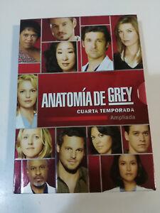 ANATOMIA DE GREY CUARTA TEMPORADA 4 AMPLIADA - 5 X DVD + EXTRAS ...