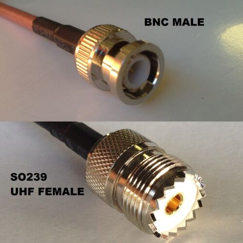 RG316 BNC MALE to SO239 UHF Female Coaxial RF Cable USA-US