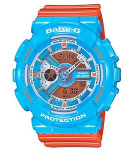 Casio-Baby-G-BA110NC-2A-Anadigi-Gloss-Blue-amp-Orange-COD-PayPal