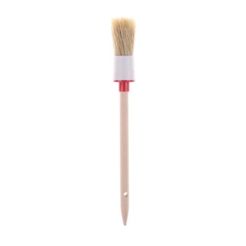 Wooden Handle Round Bristle Chalk Oil Paint Painting Wax Brush Artist GD