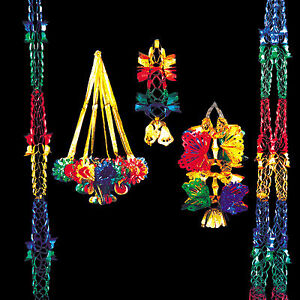 CHRISTMAS-DECORATIONS-RED-GREEN-GOLD-amp-BLUE-LANTERNS-CHANDELIERS-STARS-GARLANDS