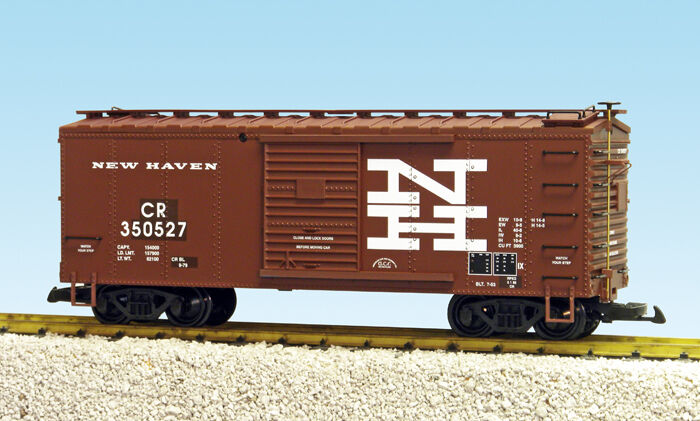 USA Trains G Scale 19090ABCD 19090ABCD 19090ABCD Steel Box Car New Haven CHOICE OF ROAD   74272d