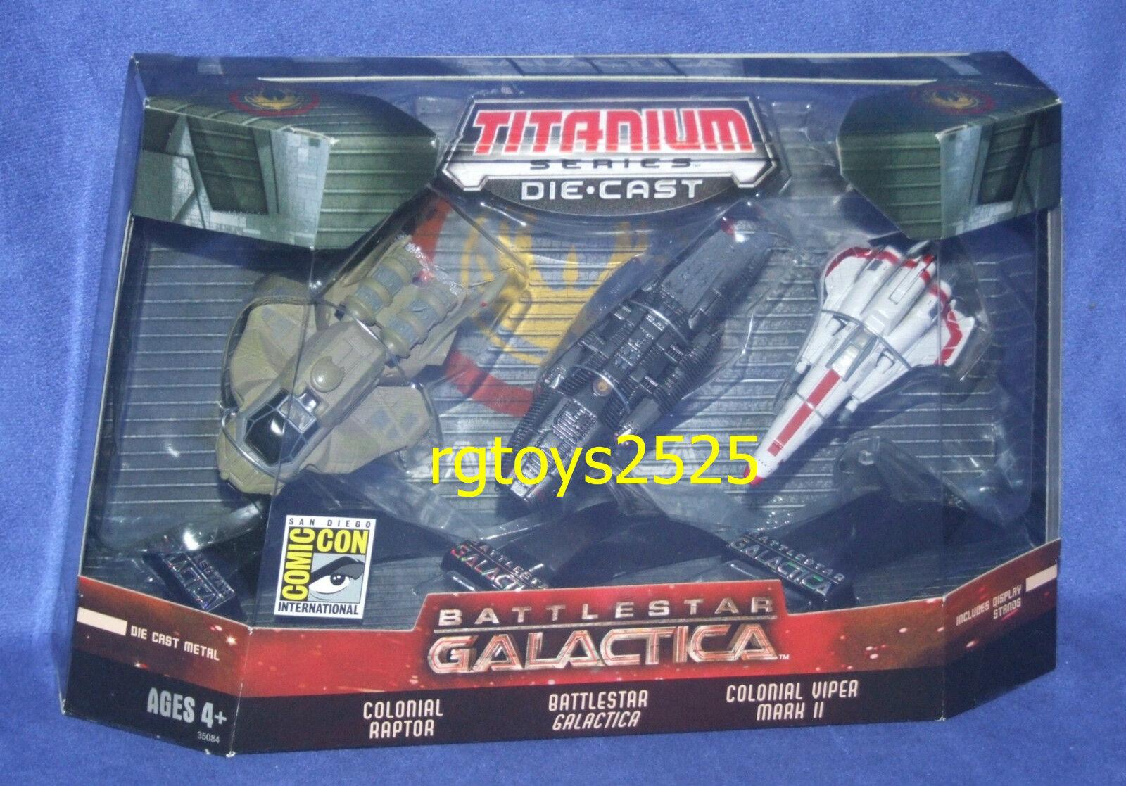 Battleestrella Galactica FUMETTI CON Titanio Set Colonial VIPER MARK II nuovo Raptor