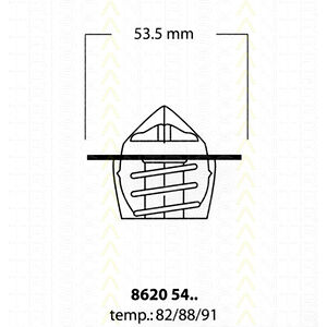 Thermostat Eau TRISCAN RENAULT MEGANE I 1.6 e 90 CH
