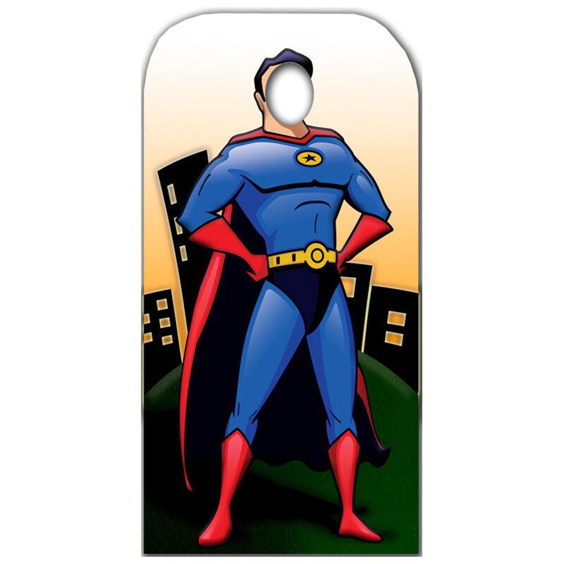 SUPERHERO Male STAND-IN CARDBOARD CUTOUT Standup Standee Standin FREE SHIPPING
