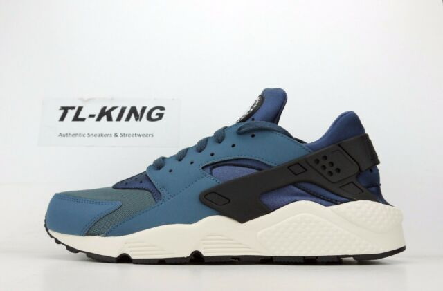 low priced f511e e0238 Nike Air Huarache Mens 318429-422 Monsoon Blue White Running Shoes Size 11